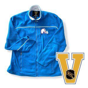 NHL Vintage Hockey Nordiques Sweater Jacket  Large